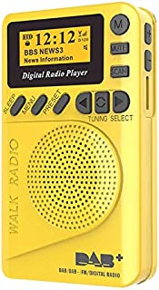 TOMLOV Mini DAB/DAB+ Digital Radio Play FM Portable MP3 Player with LCD Display Screen Multimedia Loudspeaker Player Autom...