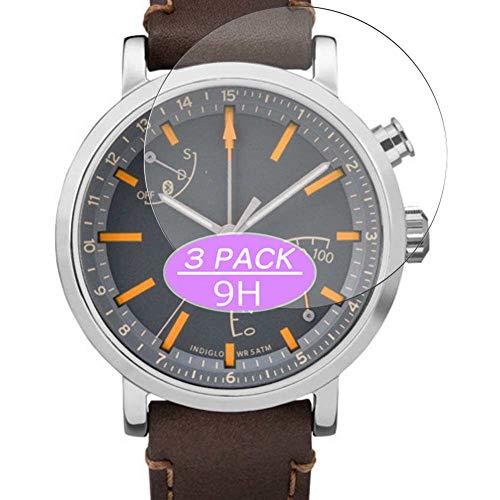 VacFun 3 Piezas Vidrio Templado Protector de Pantalla, compatible con Timex Metropolitan+ PLUS 42mm Smartwatch Hybrid Watch, 9H Cristal Screen Protector Protectora Reloj Inteligente