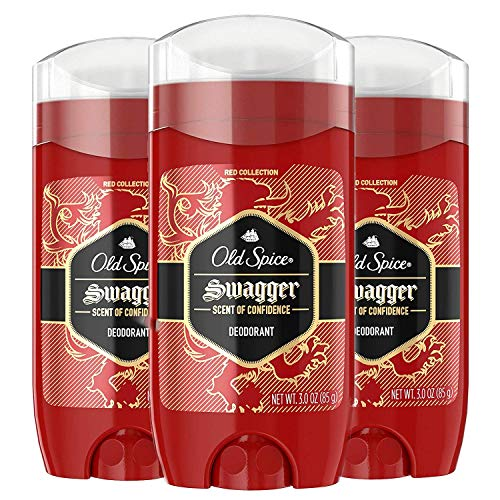 Old Spice Aluminum Free Deodorant for Men Red Zone Collection, Swagger, Lime & Cedarwood Scent, 3 Oz (Pack of 3)