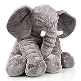 Smartpillow Doudou éléphant | peluche coussin, Polyester, gris, Grand modèle