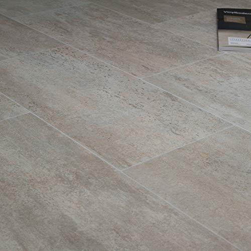 Breite: 200 cm x L/änge: 100 cm PVC Bodenbelag Fliese Beige Tarkett 260D Zaragoza Powder 14,90 /€ p. m/²