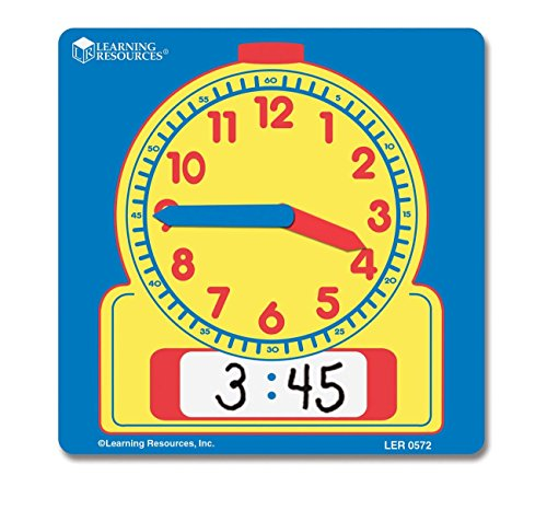 Learning Resources Write and Wipe Student Clocks, Help Kids Practice Time, Clocks for Kids, Write and Wipe Clocks, Homeschool, Classroom, Set of 10