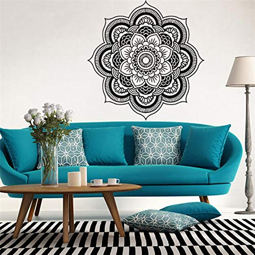 Etiqueta engomada grande de la pared de la flor de la mandala etiqueta desprendible etiqueta de la etiqueta engomada de DIY artista dormitorio mandala etiqueta floral pegatina arte