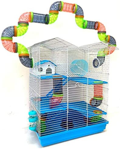 Large 5-Level Twin Tower Reservation Habitat Mous Home Hamster Gerbil Recommended Rodent