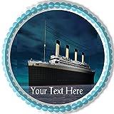 Titanic ship (Nr1) - Edible Cake Topper - 6' round