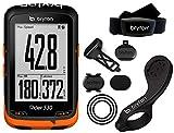 Bryton Rider 530T GPS con Dual Sensor, Fascia Cardio e Supporto F Mount, Nero