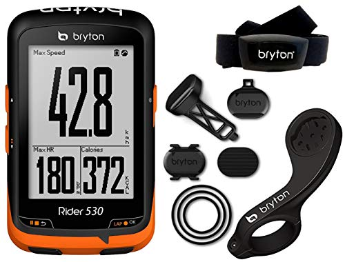 Bryton Rider 530T Velocímetro Computador GPS, Unisex adulto, Negro, Única