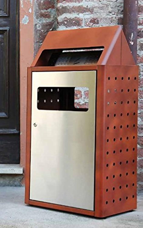 Aschenbecher Papierkorb für Außen aus Metall – laminart B079SMMR9T | Schön In Der Farbe
