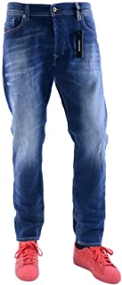 Diesel Jeans Tepphar Slim Fit Cotton Dark Wash Blue Mid-Rise 00CKRI-084GF-01