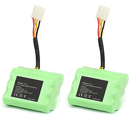 2 Pack 4000mAh 7.2V XV-11 Replacement Battery for Neato Robotics Neato XV-11 XV-12 XV-14 XV-15 XV-21 XV-25 XV Essential