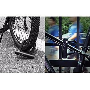 INBIKE bicicleta U Lock acero MTB bicicleta de carretera bicicleta antirrobo de bloqueo resistente bicicleta u-locks alargado flexible cable de acero, Set