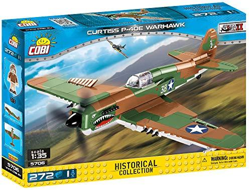 COBI Maqueta avión Curtiss P-40E Warhawk. Historial Collection WWII. Mod5706. 272 Piezas (5706)