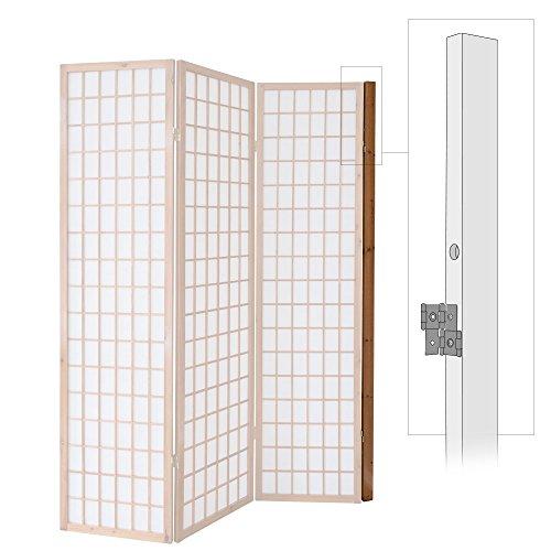 Homestyle4u 1108, Wandhalterung Raumteiler, Wandhalter Wandbefestigung Paravent, Braun
