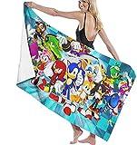 Sonic The Hedgehog - Toalla de playa para niños (80 x 130 cm)...