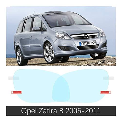 Película del espejo retrovisor del coche La cubierta completa contra la niebla a prueba de lluvia Film Espejo retrovisor for Opel Zafira B C 2005 ~ 2019 pegatinas de coches Films Accesorios 2009 2014