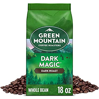 Green Mountain Coffee Roasters Dark Magic, Whole Bean Coffee, Dark Roast, Bagged 18 oz