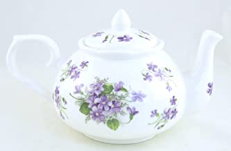 Wild Violet Chintz - English Bone China Teapot - Adderley of England