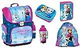 Frozen Anna Elsa zaino per la scuola ragazza 1 classe Tornister zaino per la scuola Set 5 pz. Per la scuola elementare, super leggero, ergonomico e anatomico, licenza originale.