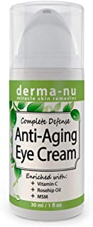 Eye Cream Anti Aging and Natural - Organic Treatment for Dark Circles, Puffiness Under the Eyes, Wrinkles and Crows Feet - Rich in Vitamin C