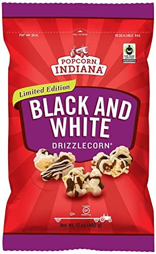 Popcorn Indiana Drizzled Black and White Kettlecorn 17 oz pack of 3 A1 product image