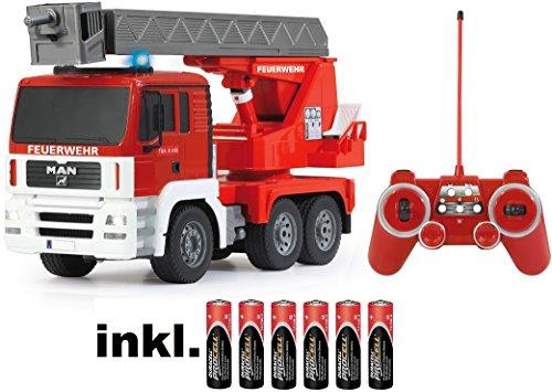 BUSDUGA RC Man Feuerwehr 27MHz ferngesteuert - Motorsound, Hupe, Licht INKL. Akku - komplett Set