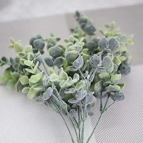 Barley33 Flores Artificiales Hojas de Dinero Hoja de eucalipto Ramas de Plantas Verdes Flor Decoración del Banquete de Boda Decoración del hogar
