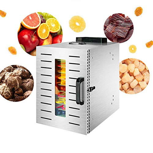 Great Features Of 12 Tier Food Dehydrator Digital Food Dryer & Dehydrator Large Stainless Steel Food...