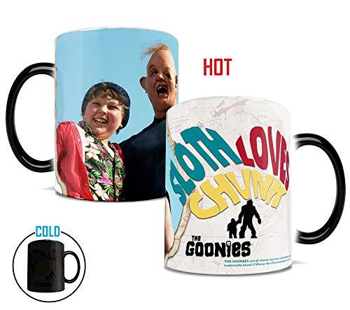 Morphing Mugs Goonies (Sloth Loves Chunk) Ceramic Mug, Black