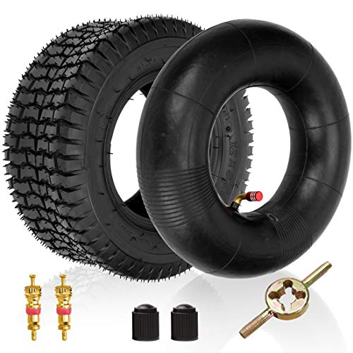 FVRITO 12x5.00-6 Clever Turf Tire and Inner Tube for Razor Dirt Quad 4 Wheeler electric ATV (Versions 19 and Up) Go Kart Yard Tractors wheelbarrow Lawn Mower Wagons Hand Trucks Dolly Heavy-Duty