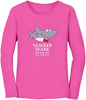 Teacher Shark Doo Doo Funny Gift for Teachers Women Long Sleeve T-Shirt
