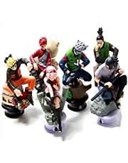 Scienish 6pcs/lot Naruto 8cm Chess Action Figure Sasuke Ninja Model Toy