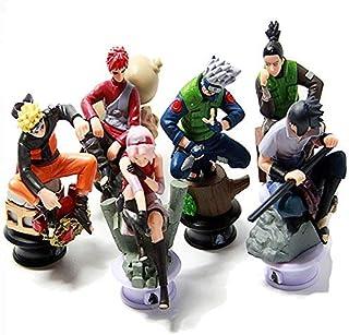 6pcs/lot Naruto 8cm Chess Action Figure Sasuke Ninja Model Toy