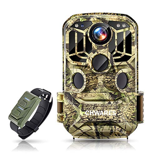 CHWARES Wildlife Camera WiFi 24MP 1296P HD Hunting Trail Cameras with No Glow Infrared Night Vision Motion Activated IP66 Waterproof for Outdoor and Home Security