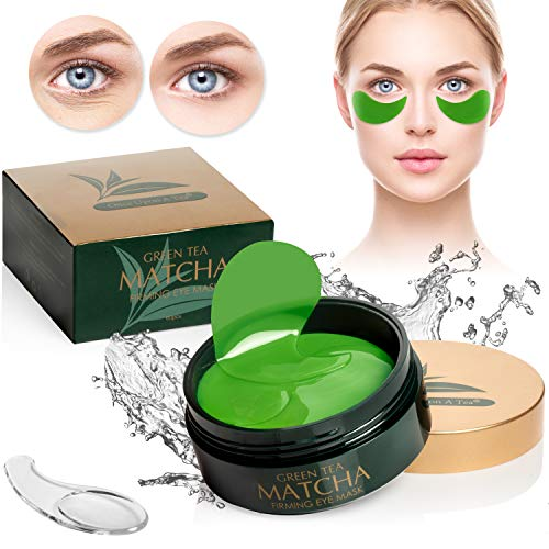 Green Tea Matcha Firming Eye Mask, 30 Pairs Collagen Patches For Fine Lines, Wrinkles, Under Eye Bags & Puffy Eyes Treatment, Face Gel Pads That Reduce The Signs Of Aging