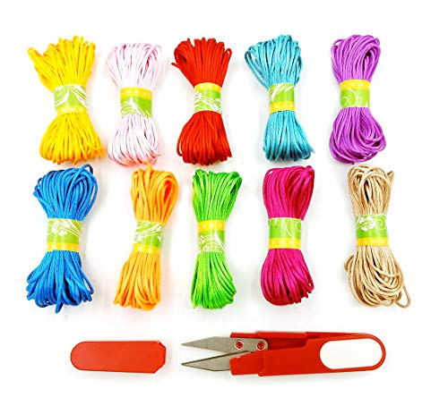 GEOOT 10 Piece 10M Colorful Braided Hair Colorful Rope Braiding Colorful Rope Braiding Fashionable Colorful Tie (10 colors)