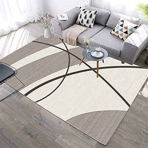 Kunsen Alfombra Antideslizante sofá Cama Moderno Alfombra Rectangular para salón y Dormitorio Alfombra terraza Exterior 80X120CM 2ft 7.5' X3ft 11.2'