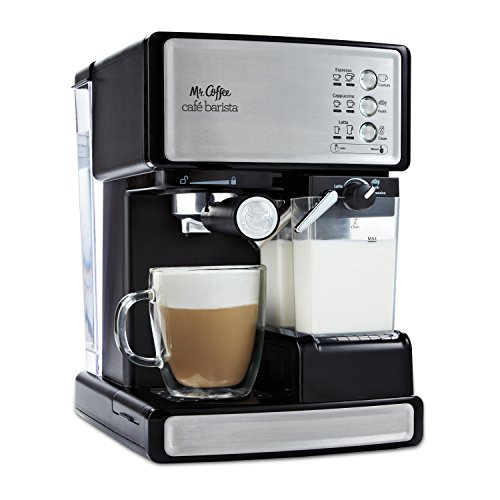 Mr. Coffee Espresso and Cappuccino Maker | Caf Barista , Silver