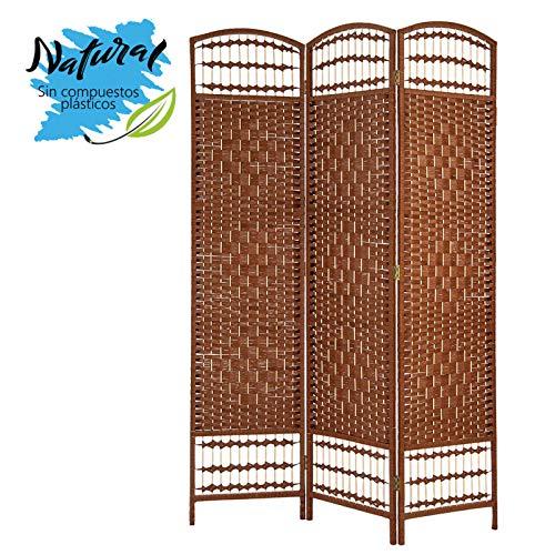 Biombo Separador de ambientes, Bambú Natural Cerezo, Economico, para Salon/Comedor (180cm X 135cm) - Hogar y más