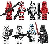 CVB Star Wars Anime Figura Estatua Modelo para niños Figuras de acción Juego Set Imperial Stormtrooper Darth Vader Regalo para niños 4.5cm-4.5cm