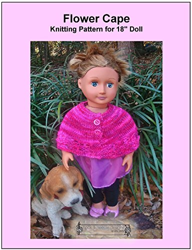 """Flower Cape: Knitting Pattern for 18"""" Doll (English Edition)"""