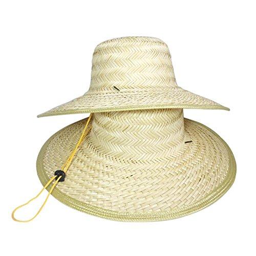 D'été Chapeau de paille pour homme Chapeau de style chinois activités de plein air Soleil Leisure Farm Chapeau aux personnes âgées protection solaire Chapeau Leisure Style rural