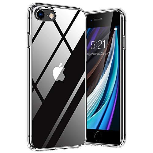 TORRAS Diamond Series für iPhone 7/8/SE 2020 Hülle, Vergilbungsfrei Durchsichtig iPhone SE Hülle/iPhone 8 Hülle/iPhone 7 Hülle Hard Back & Silikon Bumper Handyhülle (Transparent)