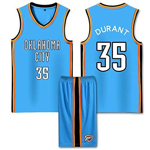 LBF Oklahoma City Thunder Jersey Kevin Wayne Durant Nº 35 de New Jersey Bordado de Malla del Ventilador de Baloncesto Jersey de Secado rápido for jóvenes sin Mangas del Chaleco de Deportes (S-XXL)