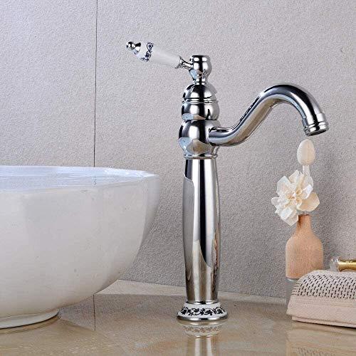 360 ° Retro Bad Wasserhahn nostalgische Wasserhahn Waschbecken Wasserhahn Einhand Wasserhahn Becken Wasserhahn Becken Einhand Wasserhahn Badewanne Wasserhahn Badewanne,Silver