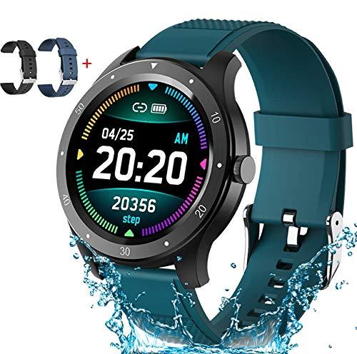 Smartwatch Pulsera Inteligente, Reloj inteligente Impermeable IP67, 1.3inch Pantalla Grande Fitness Tracker, Monitor de Ritmo Cardiaco,...