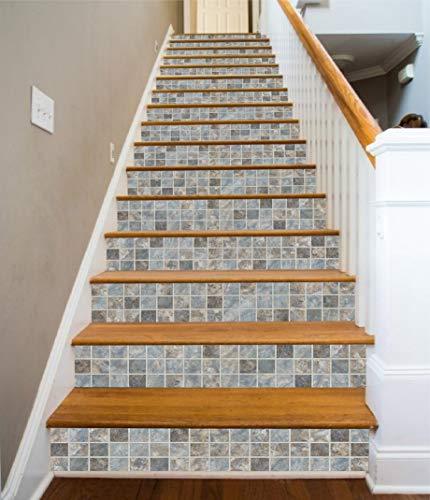 3D Advanced Ceramic Tile Brick 419 Pattern Tile Marble Treppe Risers Dekoration Foto Mural Vinyl Decal Wallpaper Mural Wallals Wallpaper Mural UK Wendy (15 x 18 x 102 cm)