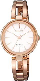 Citizen Women's White Dial Stainless Steel Band Watch - EM0639-81A