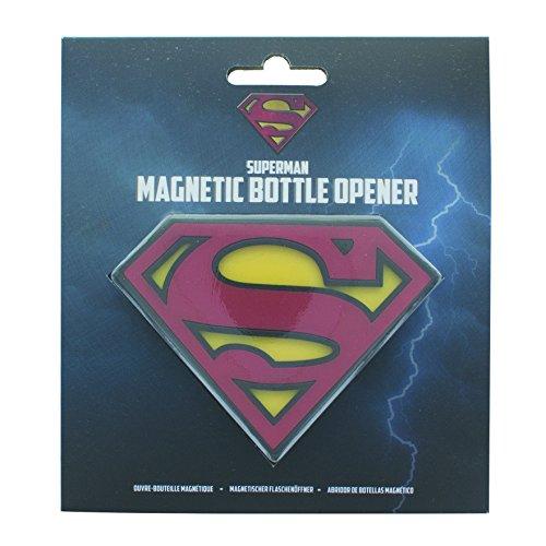 Superman Apribottiglie Magnetico, Multicolore, 2.5x13x14 cm