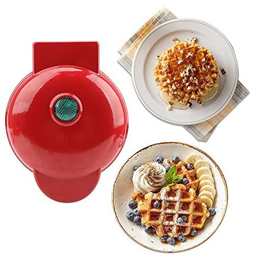 Mini Gofrera Plancha Waffle Gofrera Eléctricas Acero Inoxidable Waffle Cuadros 220V Antiadherente
