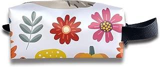 Cute Hand-drawn Autumn Elements Hedgehog_1401 Canvas Makeup Bag Pouch Purse Handbag Organizer with Zipper
